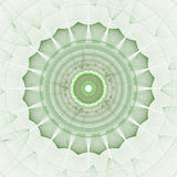 Abstracts background. With circular digital pattern resembling sun, lace or floral elements Stock Photography