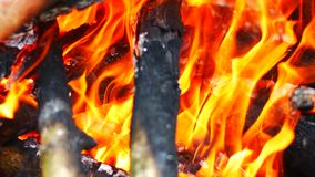 Abstracts background, 4k video clip closeup res fire flame hot background as abstracts background.  stock video footage
