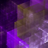 Abstracts background. With transparent rectangular shapes as conceptual metaphor for modern technology, science and business Royalty Free Stock Images