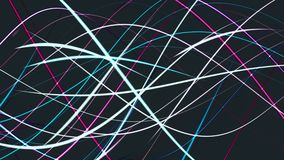 Abstracts growing lines on black. In background vector illustration