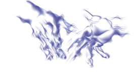 Abstracts hands. An Illustration featuring a pair of  glowing hands on a white background Royalty Free Stock Images