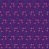 Abstracty background of the branches with hearts. Stock Photo