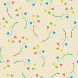 Abstracty background of the branches with hearts. Royalty Free Stock Images
