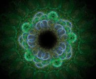 Abstracty fractal kwiat royalty ilustracja