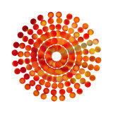 Abstracty illustration of Golden fire flower Stock Images
