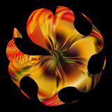 Abstracty illustration of Golden fire flower Stock Photo