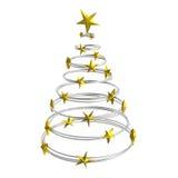 Abstraia a árvore de Natal Fotografia de Stock Royalty Free
