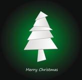 Abstraia a árvore de Natal do origami ilustração stock