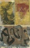 Abstraia a árvore e a folha ilustração royalty free