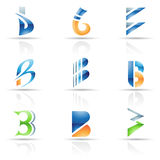 Abstraia ícones para a letra B Imagens de Stock