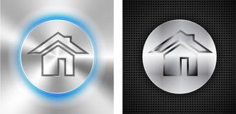 Abstraia fundos tecnologicos com ícone home ilustração do vetor