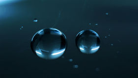 Abstraia gotas da água Fotografia de Stock Royalty Free