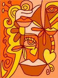 Abstraia a laranja ilustração royalty free
