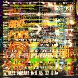 Abstraia letras e números Imagem de Stock Royalty Free