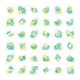 Abstraia logotipos Foto de Stock Royalty Free