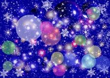 Abstraia luzes de Natal Fotografia de Stock