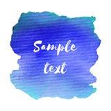 Abstraia a mancha de papel tirada mão isolada da textura da aquarela no fundo branco para o projeto do texto, Web, etiqueta Foto de Stock