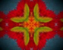 Abstraia a mandala expulsa com cor vermelha, alaranjada, azul e verde ilustração royalty free