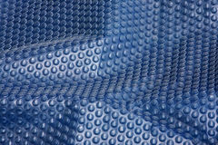 Abstraia o bubblewrap azul fotografia de stock
