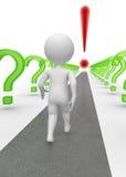Maneira ao sucesso: responda a perguntas e faça a decisão Fotografia de Stock Royalty Free