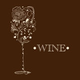 Abstraia o cartão do vinho Fotos de Stock Royalty Free