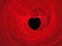 Abstraia o coração do fundo ilustração stock