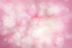 Abstraia o fundo borrado da cor e do bokeh, o rosa e o branco Imagem de Stock