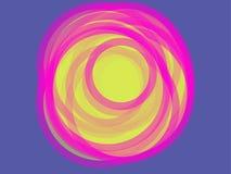 abstraia o fundo Círculos coloridos e tamanhos diferentes em um fundo colorido ilustração royalty free