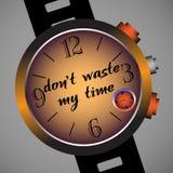 Não desperdice meu tempo Fotos de Stock