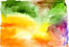 Abstraia o fundo colorido da aguarela Imagens de Stock Royalty Free