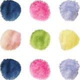 Abstraia o fundo colorido da aguarela Fotos de Stock Royalty Free