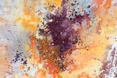 Abstraia o fundo colorido da aguarela Pintura de espalhamento da aquarela Ilustração desenhada mão fotografia de stock royalty free