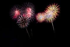 Abstraia o fundo colorido do fogo de artifício com espaço livre para o texto fotografia de stock