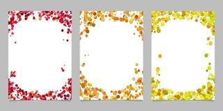 Abstraia o fundo colorido do molde do folheto ajustado - projetos gráficos de vetor Foto de Stock Royalty Free
