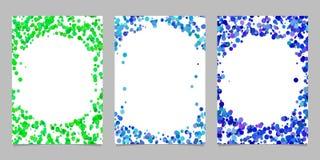 Abstraia o fundo colorido do molde do folheto ajustado - projetos gráficos de vetor Imagens de Stock