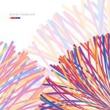 Abstraia o fundo com linhas coloridas Foto de Stock Royalty Free
