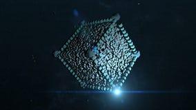 abstraia o fundo Cubo do voo no espaço ilustração royalty free