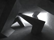 Abstraia o fundo da arquitetura Sala caótica geométrica Constru Fotografia de Stock Royalty Free