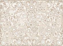 Abstraia o fundo de Grunge com ornamento Filigree Imagens de Stock