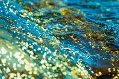 abstraia o fundo Escudos na água Imagem de Stock