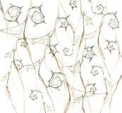 abstraia o fundo flor alaranjada do fractal Fotos de Stock