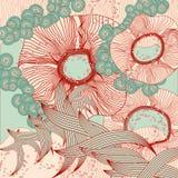 Abstraia o fundo floral Sumário do vetor Imagem de Stock
