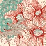 Abstraia o fundo floral Sumário do vetor Fotos de Stock Royalty Free