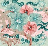 Abstraia o fundo floral Sumário do vetor Imagens de Stock