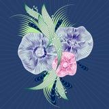 Abstraia o fundo floral Sumário do vetor Fotografia de Stock