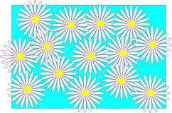 abstraia o fundo Flores Imagens de Stock