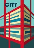 abstraia o fundo Ilustração da construção na opinião de perspectiva ilustração do vetor