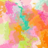 Abstraia o fundo manchado do teste padrão no espectro de cor pastel doce - arte moderna da pintura ilustração stock