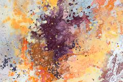 Abstraia o fundo pintado Fundo da arte abstrata Textura da cor fotografia de stock