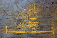abstraia o fundo Superfície de metal envelhecida com manchas e borrões da oxidação imagens de stock royalty free